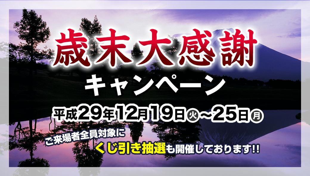 歳末大感謝デー平成29年12月18日~22日